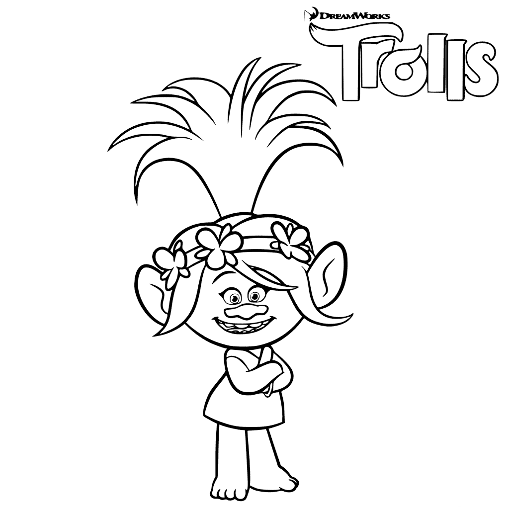 Trolls The Movie Coloring Pages