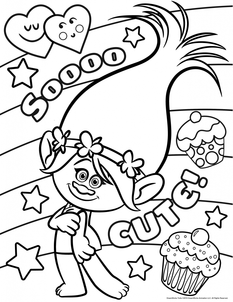 Trolls Movie Coloring Pages Free