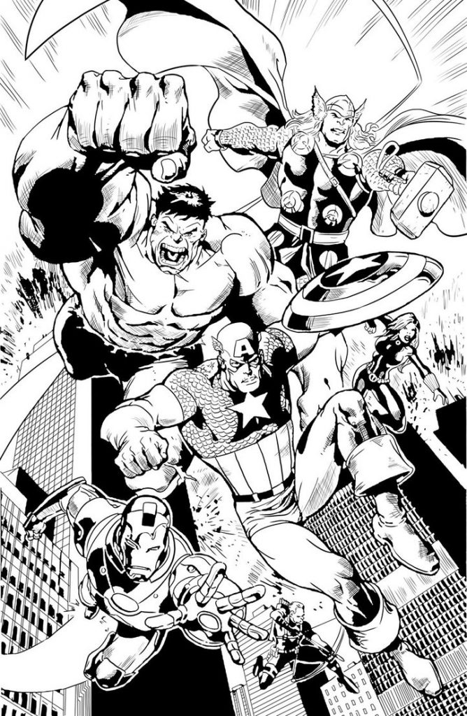 Avenger Heroes Coloring Page