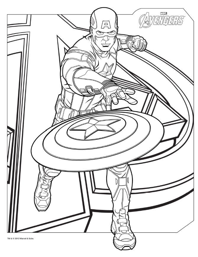 Avengers Coloring Pages - Captain America