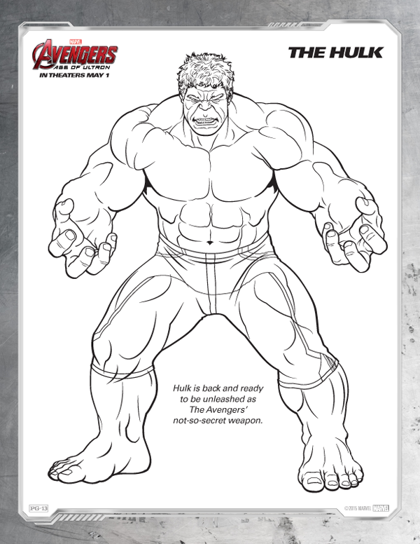 Avengers Coloring Pages - Free Hulk