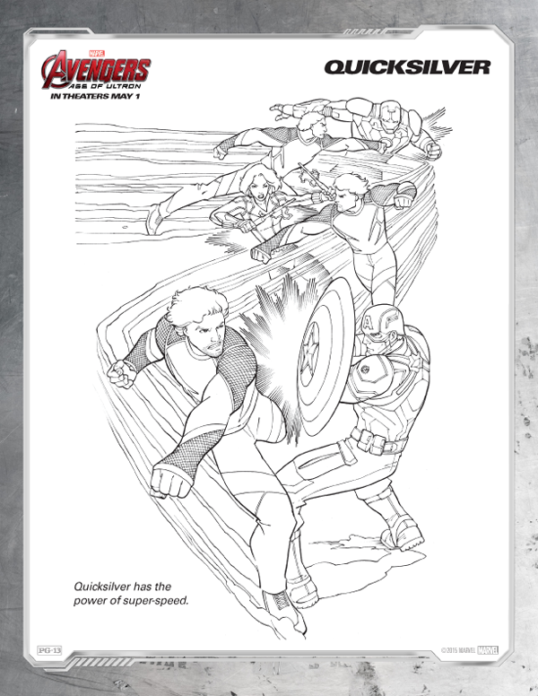 Avengers Coloring Pages - Free Quicksilver