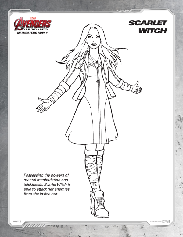 Avengers Coloring Pages - Free Scarlet Witch