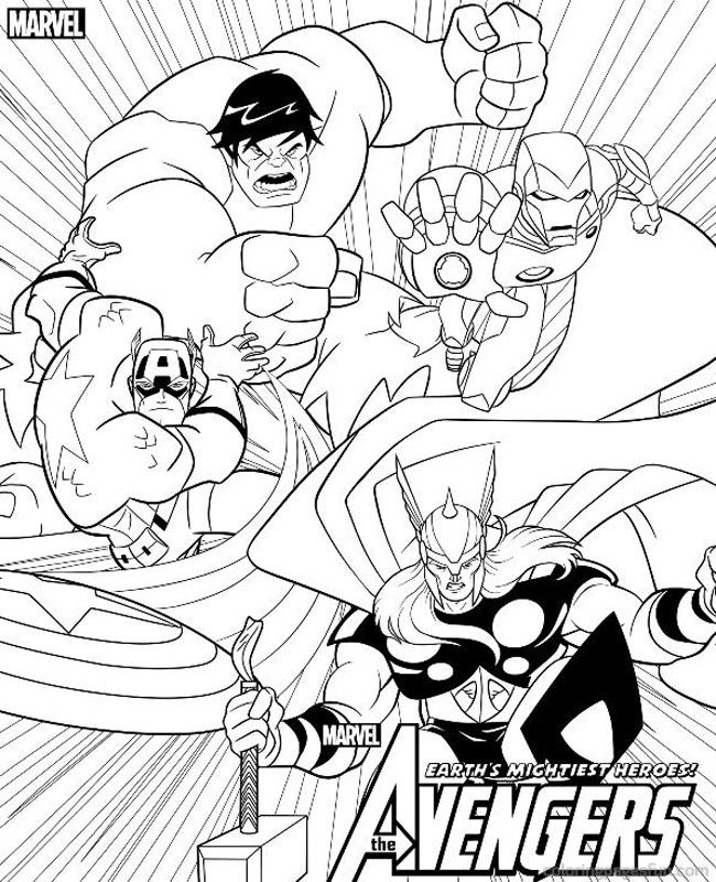 graphic regarding Avengers Coloring Pages Printable titled Avengers Coloring Web pages - Excellent Coloring Webpages For Young children