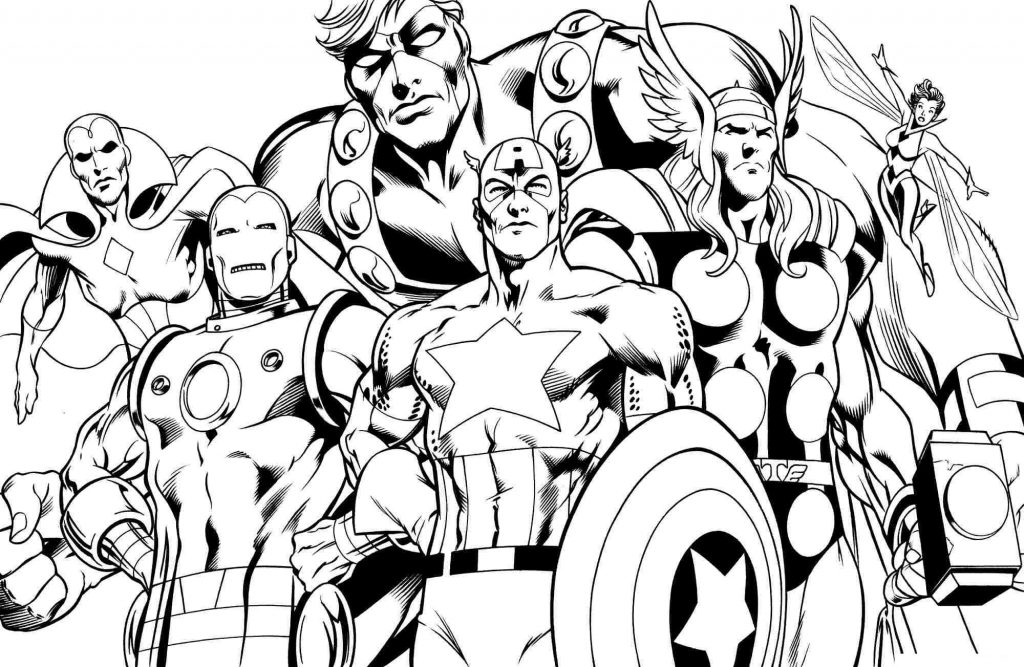 Avengers Comic Book Coloring Pages