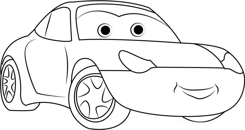 Cars  Printable Colouring Pages