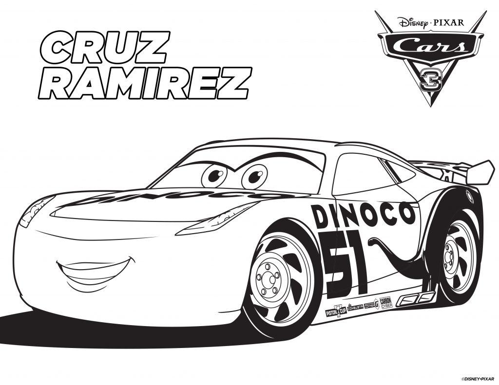 Cars Coloring Pages - Cruz Ramirez