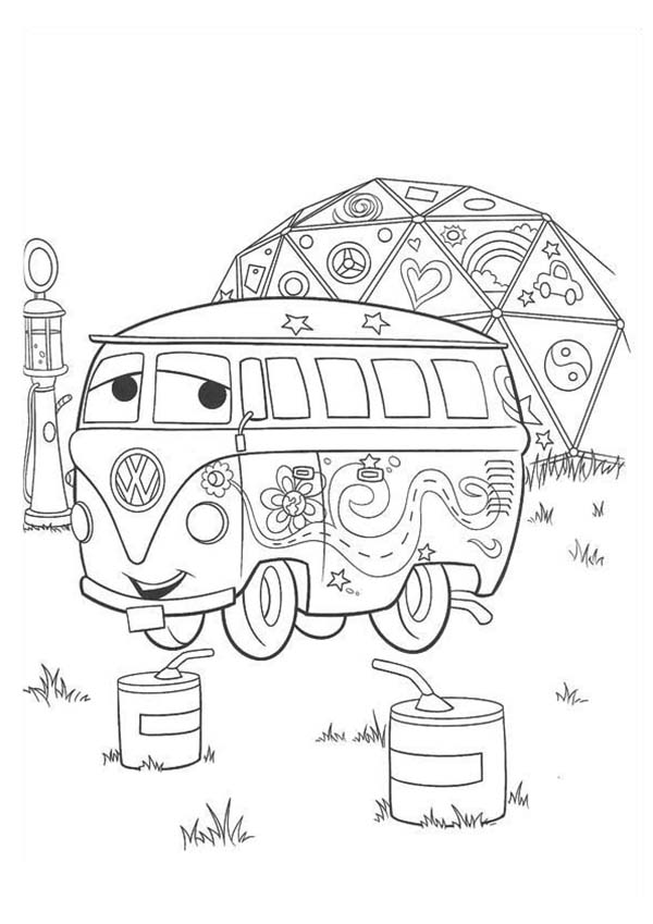 Cars Coloring Pages - Fillmore