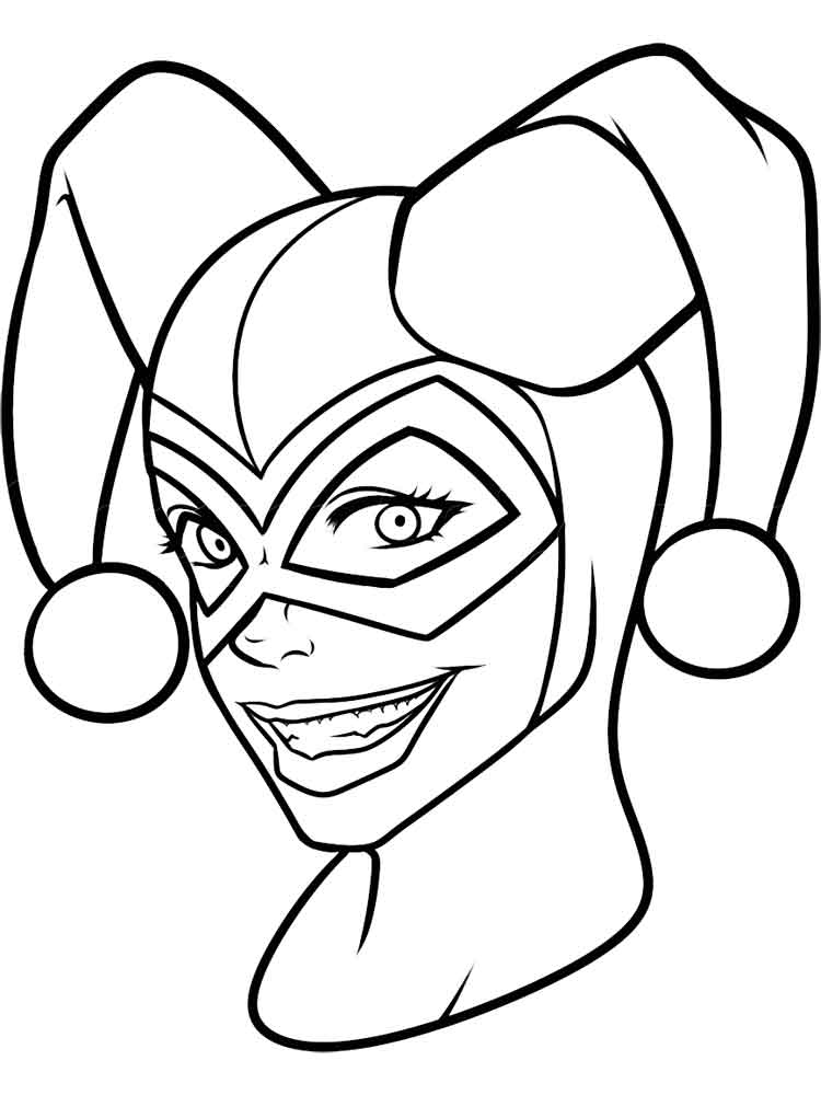 harley quinn coloring pages - photo#11