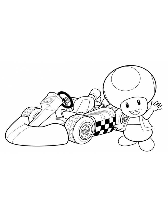 Mario kart coloring pages best coloring pages for kids for Disegni da colorare di mario