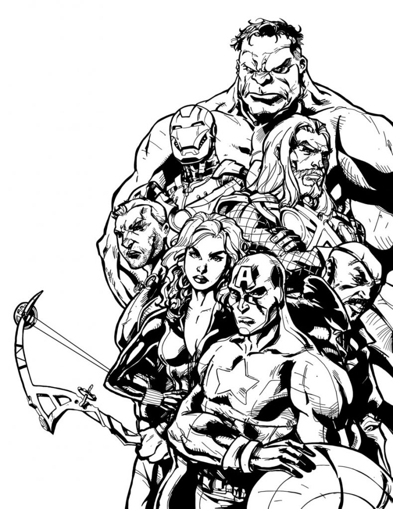 Cool Avengers Coloring Page