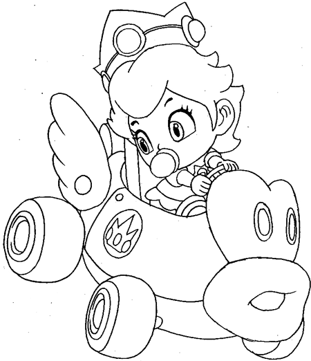Download Free Mario Kart Coloring Pages