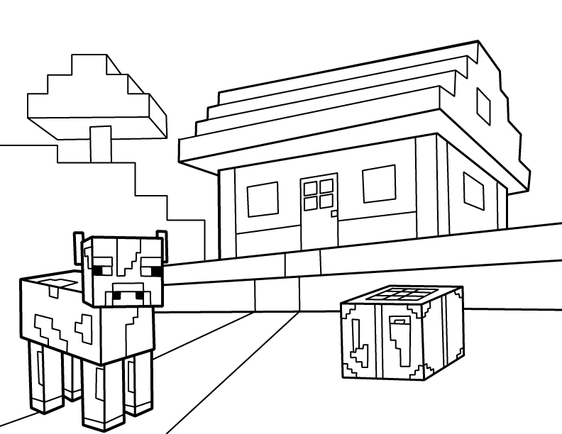 It is a picture of Priceless Minecraft Coloring Pages Printable