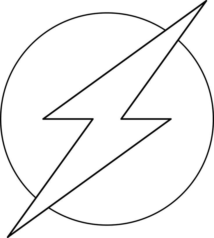 Flash Coloring Pages - symbol