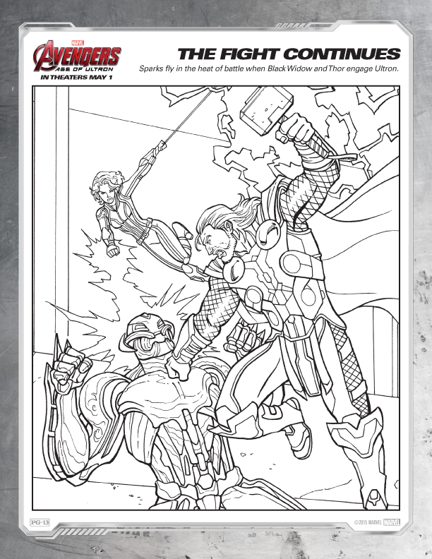 Free Avengers Coloring Pages