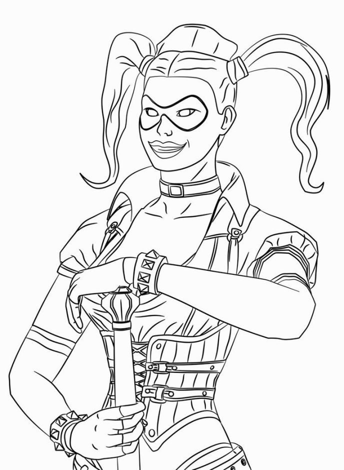 harley quinn coloring pages - photo#5