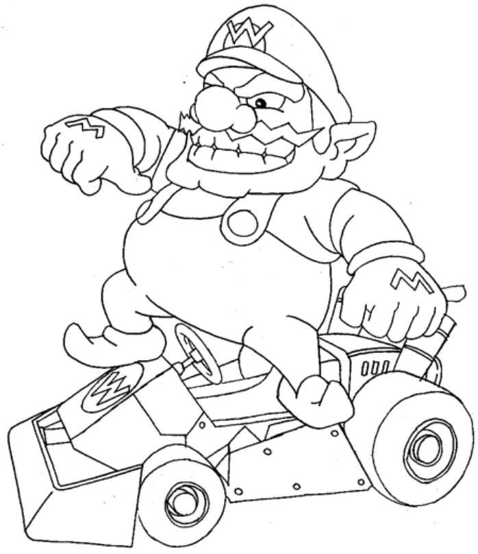 Free Mario Kart Pages to Color