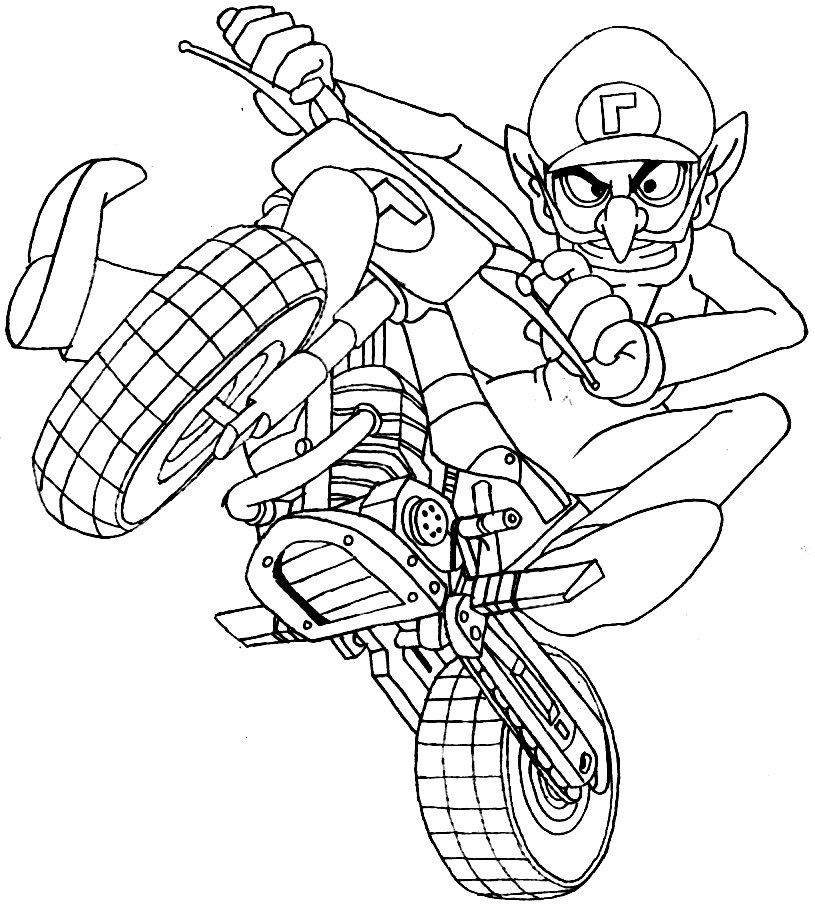 Free Printable Mario Kart Coloring Pages