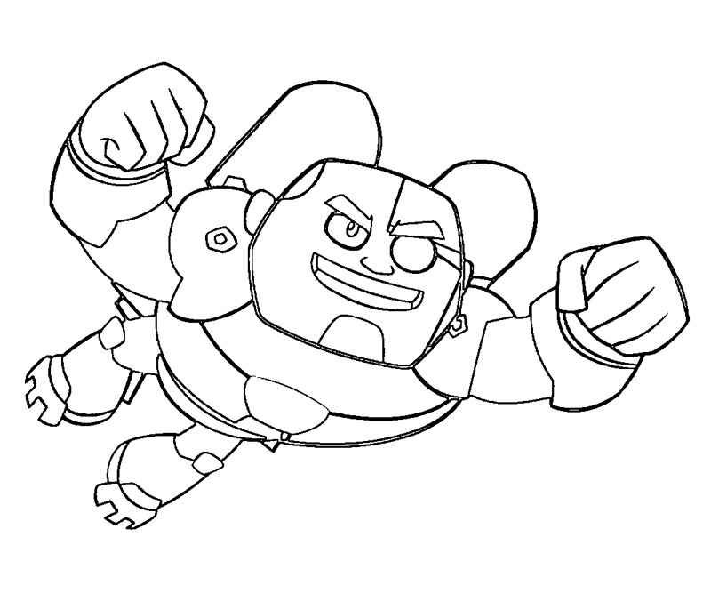 Free Teen Titans Go Coloring Pages - Cyborg