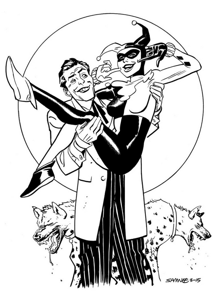 harley quinn and joker coloring pages Harley Quinn Coloring Pages   Best Coloring Pages For Kids harley quinn and joker coloring pages