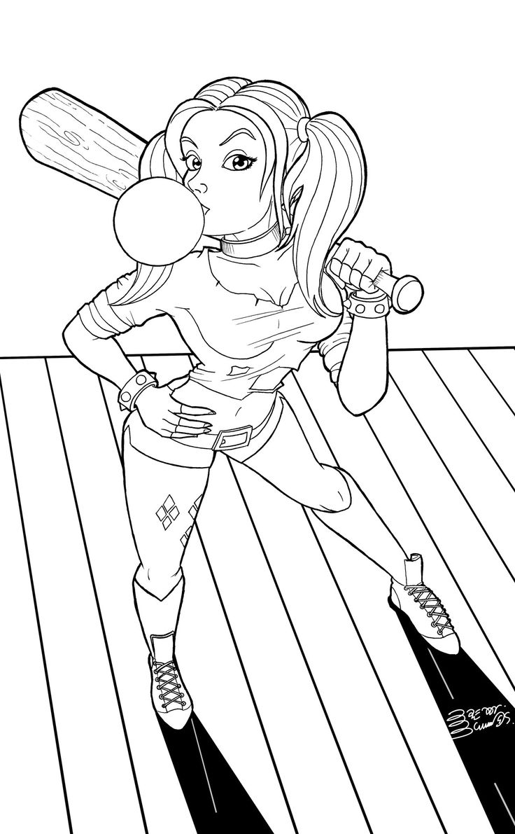 harley quinn coloring pages - photo#1