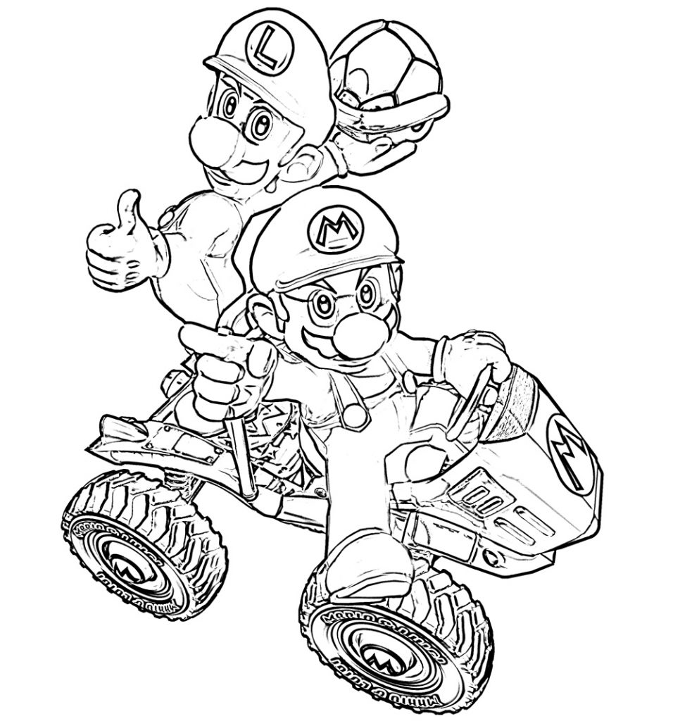 Mario Kart Coloring Pages Printables