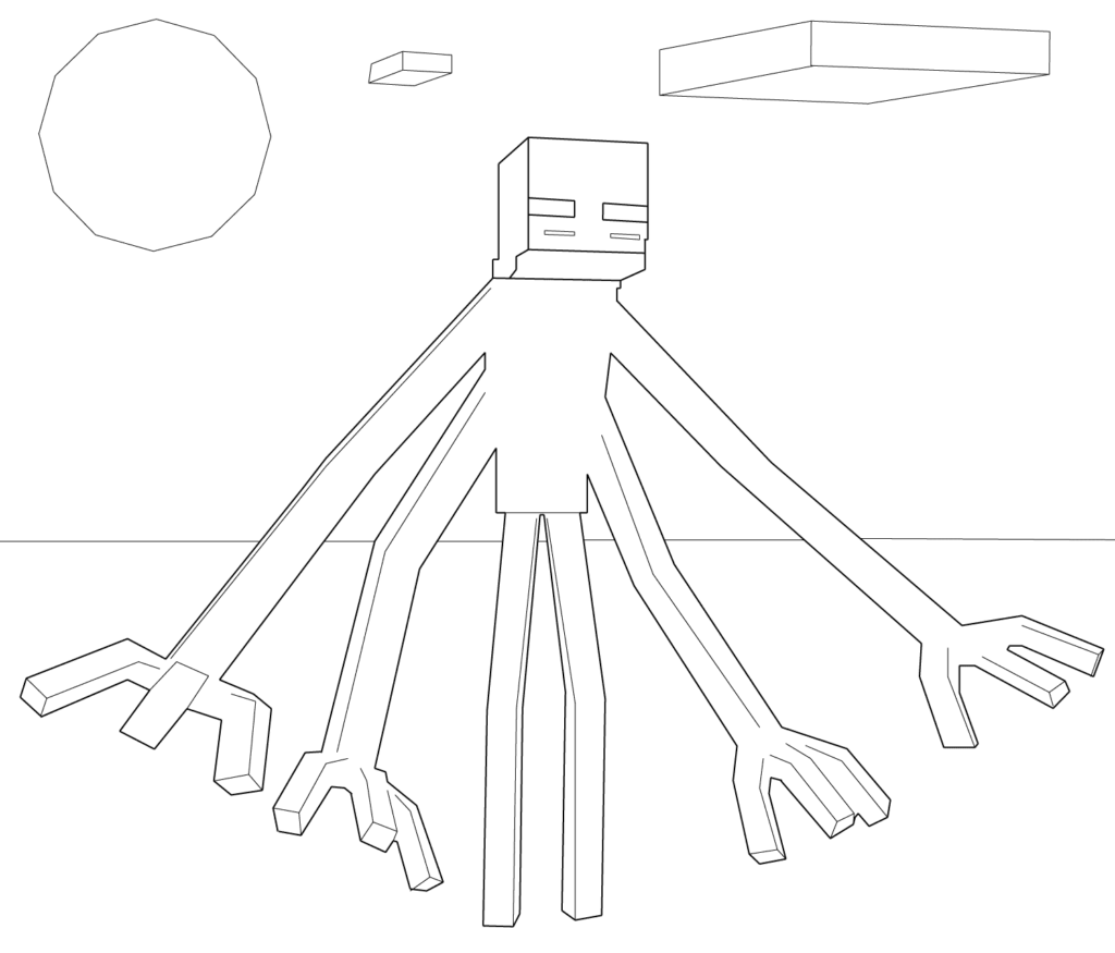 Minecraft 4 Arms Coloring Page