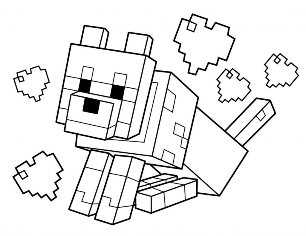 Minecraft Coloring Pages on Worlds