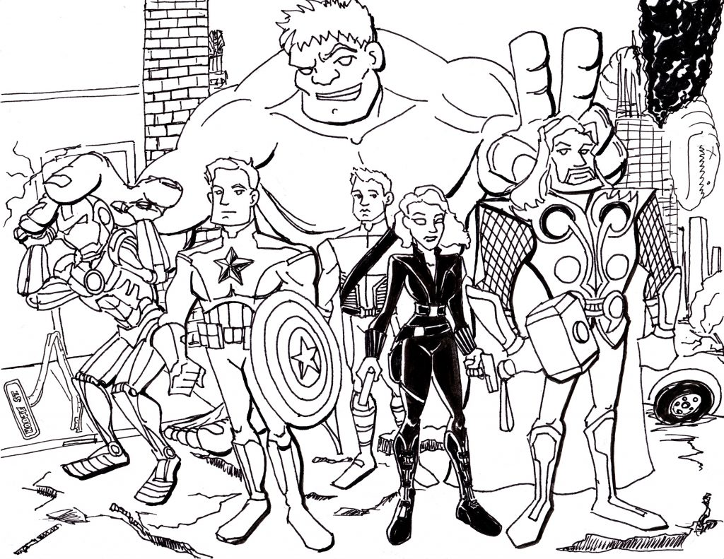 Print Avengers Coloring Pages