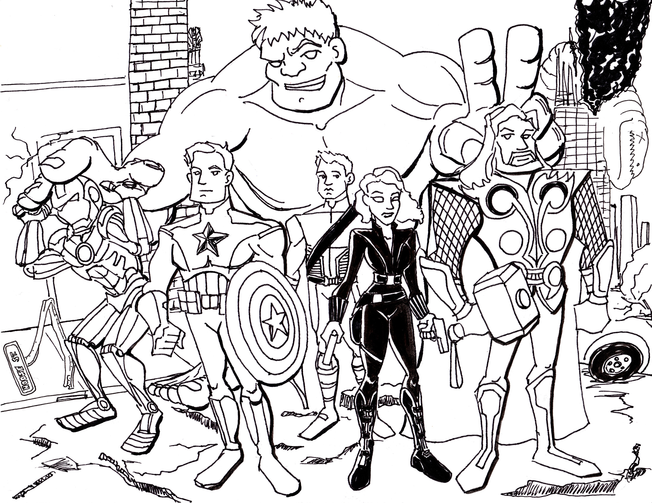 graphic regarding Avengers Coloring Pages Printable named Avengers Coloring Web pages - Great Coloring Web pages For Young children