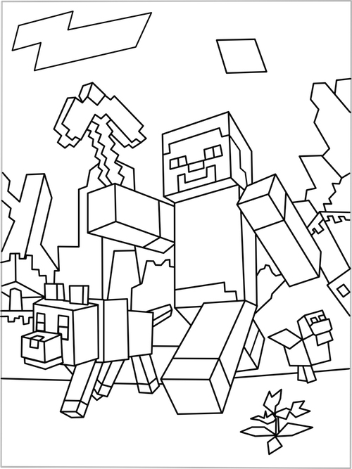 Print Minecraft Coloring Pages