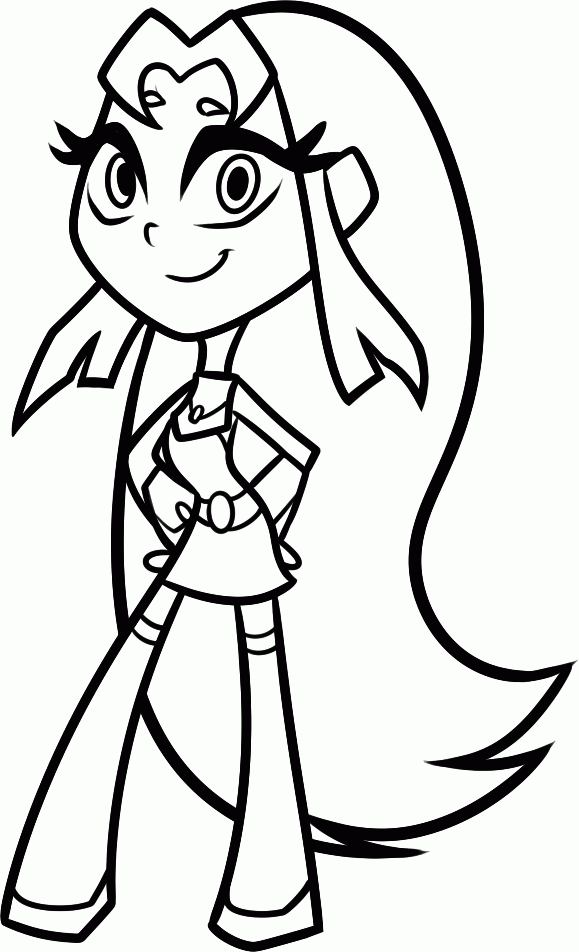 Teen Titans Go Coloring Pages - Starfire
