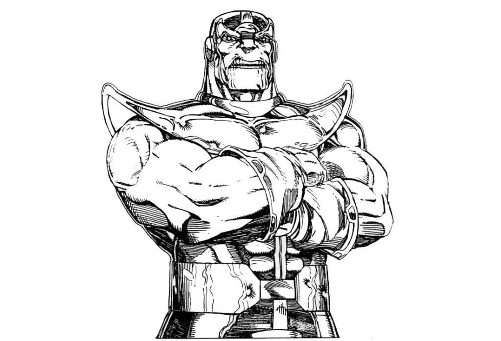 Thanos Avengers Coloring Page