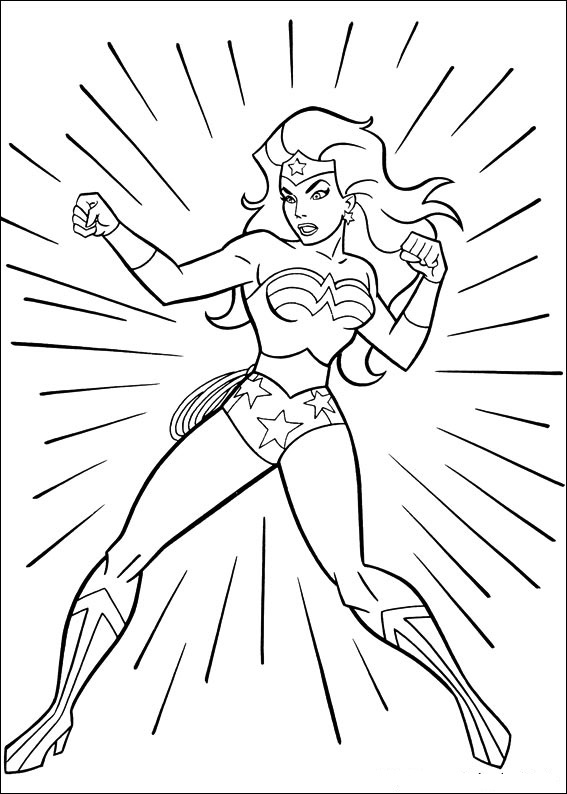 Wonder Woman Coloring Page Printable
