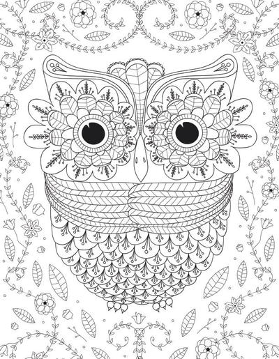 Advanced Owl Coloring Pages for Adults