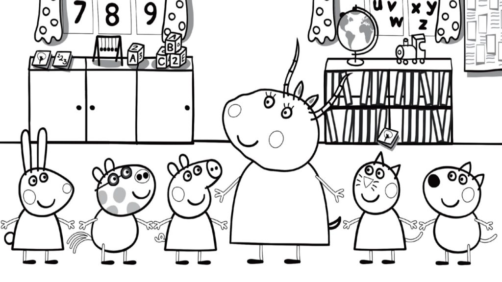 Back to School Coloring Page Printables