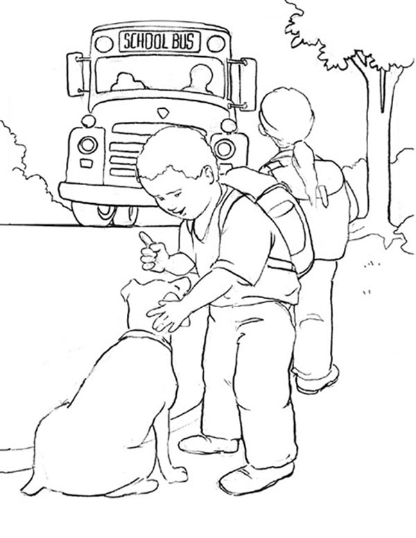 Back to School Coloring Pages - Bus Stop