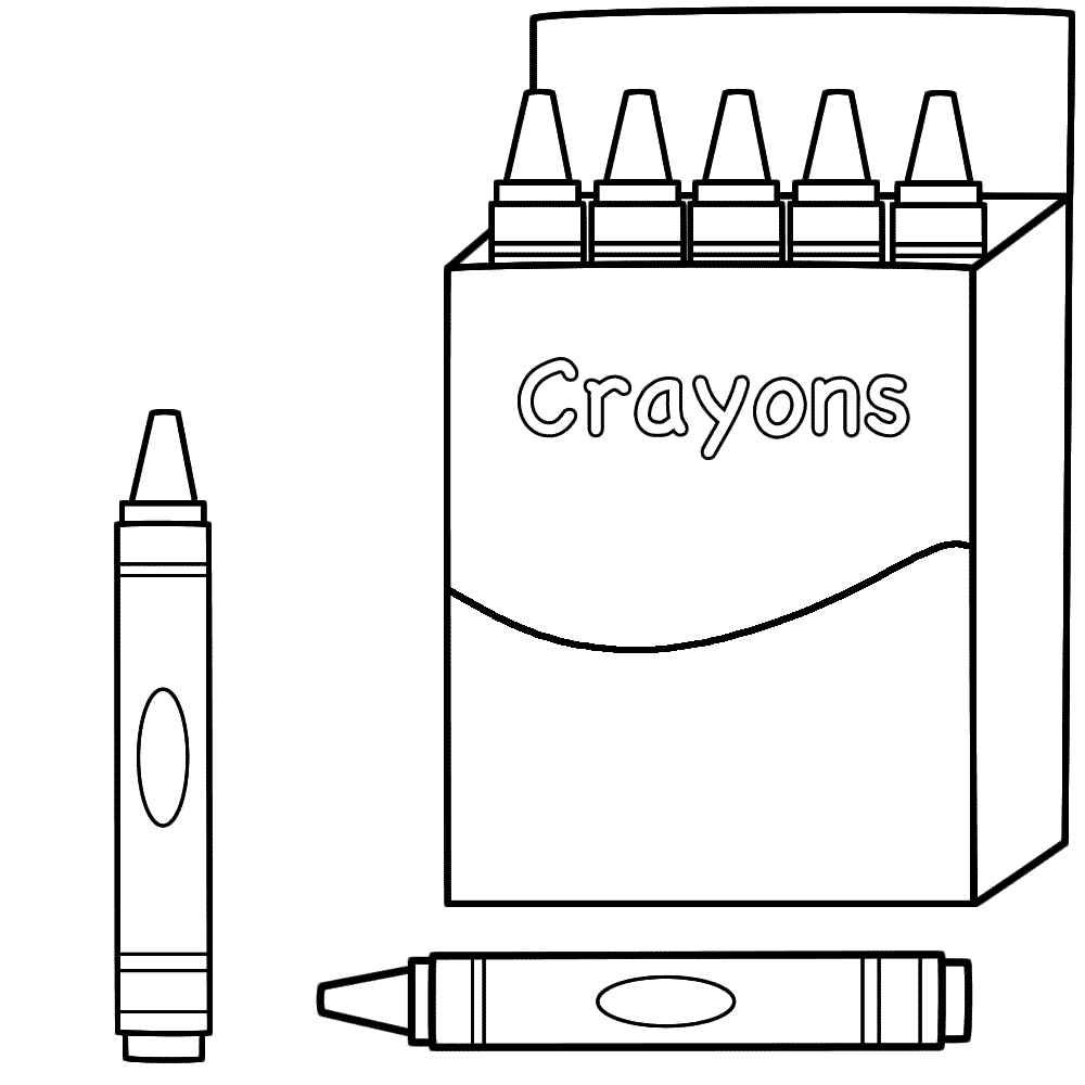 Back to School Coloring Pages - Crayons