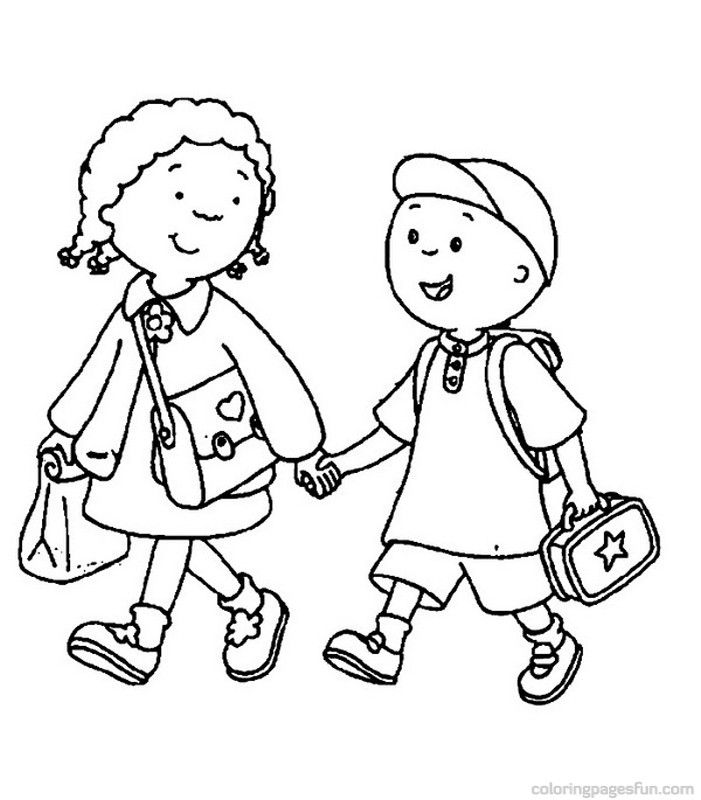 back to school coloring pages walking to school