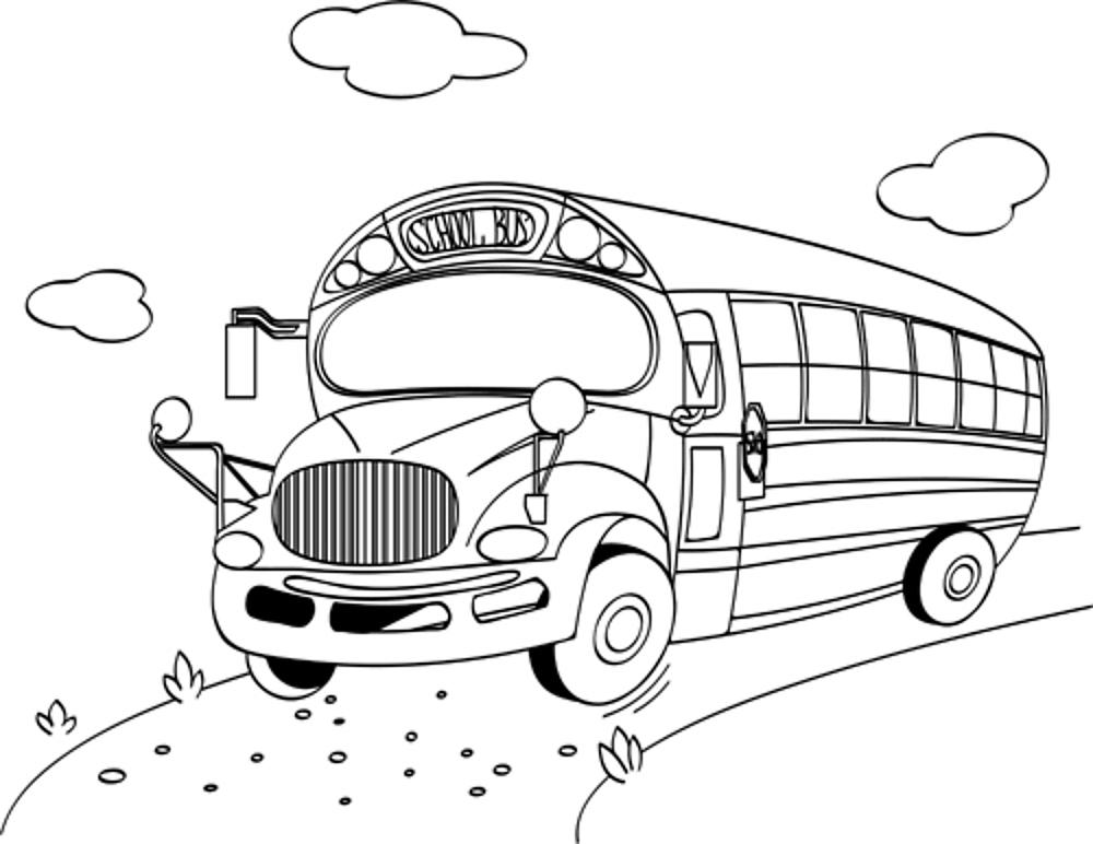 Back to Schoolbus Coloring Page