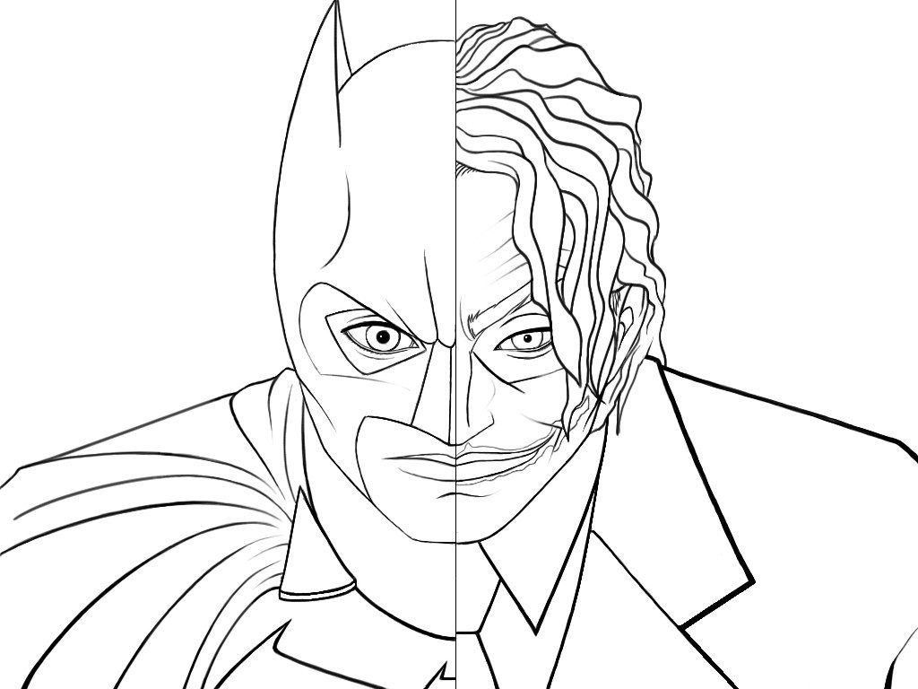 Batman joker coloring pages