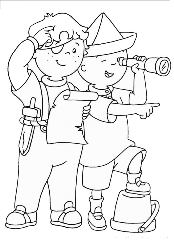 Caillou Coloring Page Free