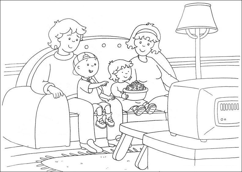 Caillou Coloring Pages Free Download