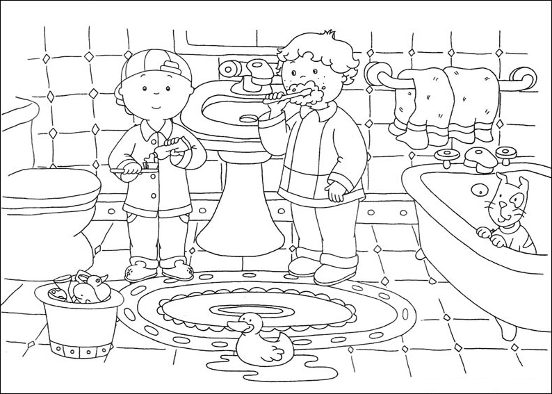 Caillou Coloring Pages Free