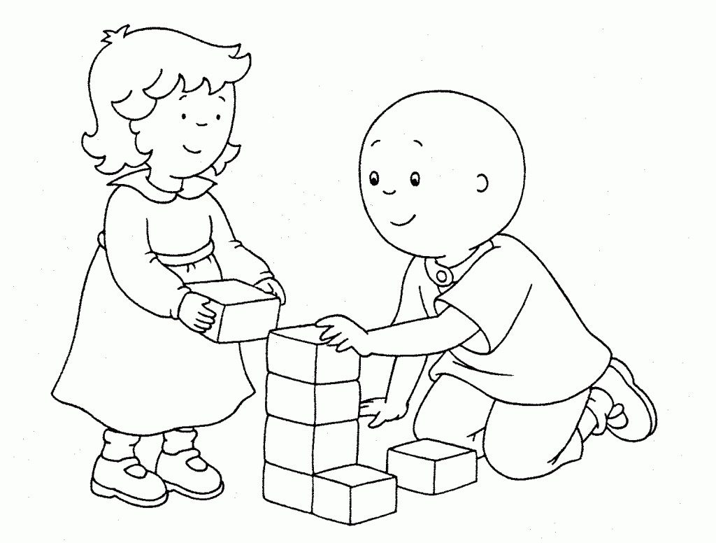 Caillou Coloring Pages Printables