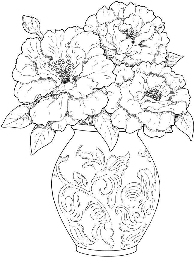 It is a picture of Unforgettable Printable Coloring Pages for Adults Flowers