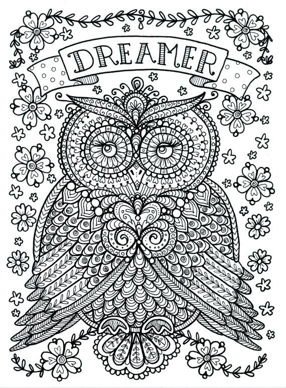 Free Printable Unique Owl Coloring Pages for Adults