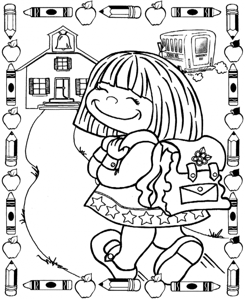 Happy Student - Back to School Coloring Pages