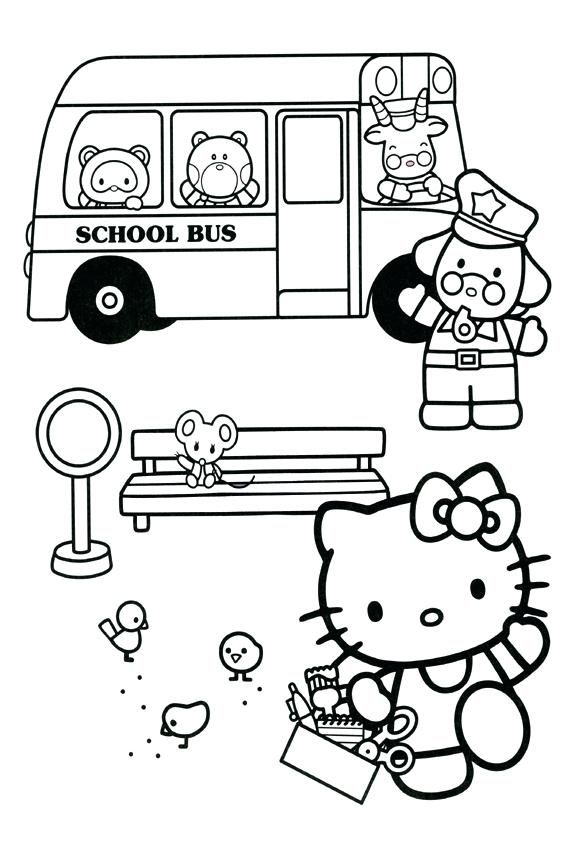 Hello Kitty Back to School Coloring Pages