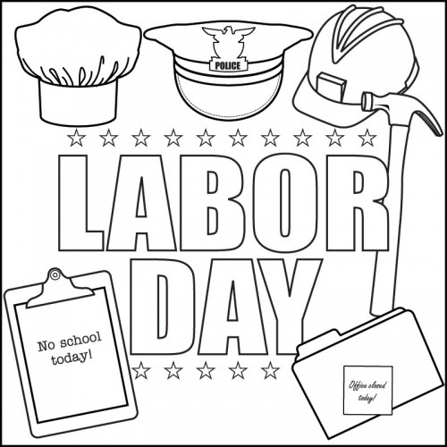 Labor Day Coloring Pages Banner
